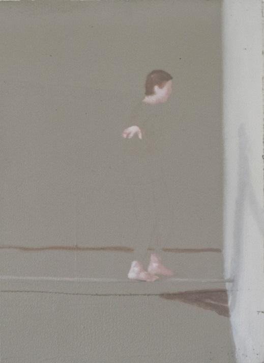 Rastislav Podhorský - Acrobat, 2016, Mixed media on hardened polystyrene, 43,5 x 60 cm Courtesy Gandy gallery