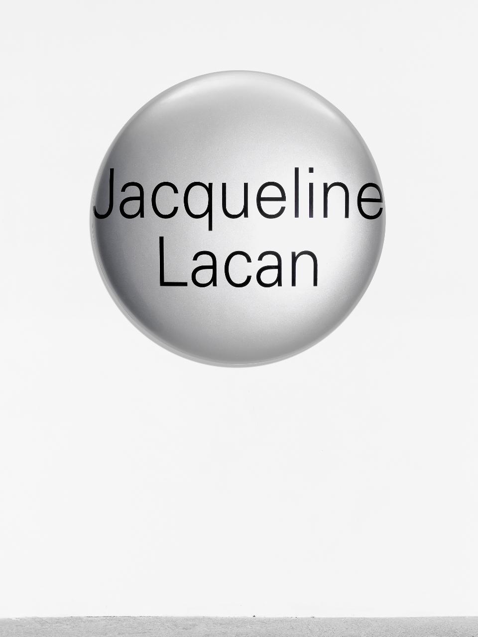 Agnès Thurnauer - Portrait Grandeur Nature (Jacqueline Lacan), 2012, Epoxyd and paint, Diameter 120 cm, Edition 3 + 2 ap, Courtesy Gandy gallery