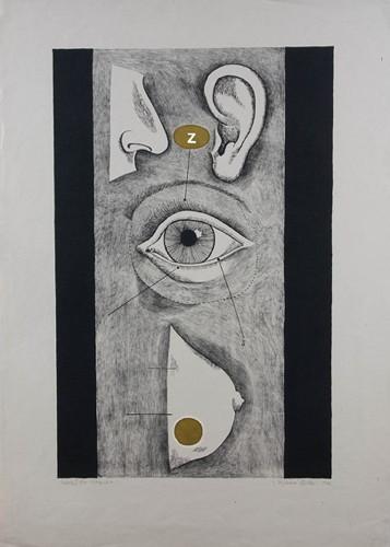 Jana Želibská - Tabulla 3, 4/20, 1967 87 x 60.5 cm, Litography Courtesy Gandy gallery