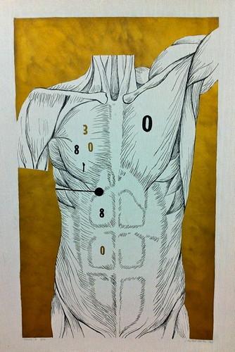 Jana Želibská - Tabulla 4, 5/20, 1966 88 x 62 cm, Lithography, cardboard Courtesy Gandy gallery