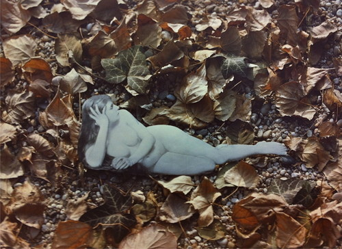 Jana Želibská - She - The Nymph Transposed into the Terrain in Surroundings of Bratislava, 1983 4 photos, 40 x 30 cm Courtesy Gandy gallery