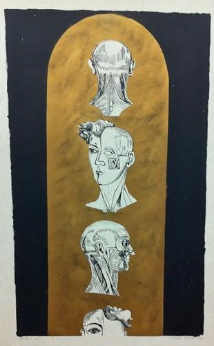 Jana Želibská - Tabulla 1, 3/20, 1967 88 x 60 cm, Litography Courtesy Gandy gallery