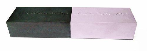 Tatiana Trouvé, secret, 2003, 2 soap, black, pink, 4,5 x 14 x 7 cm each, edition of 100